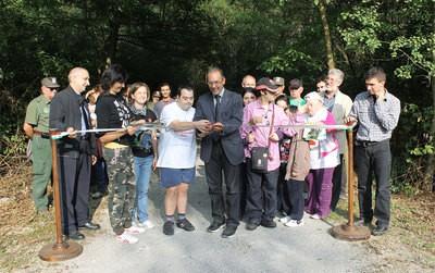 Inaugurato al Parco un percorso attrezzato per disabili