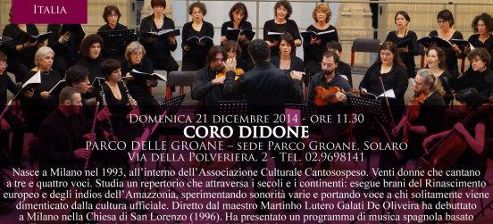 Il coro Didone alla Festa di Natale