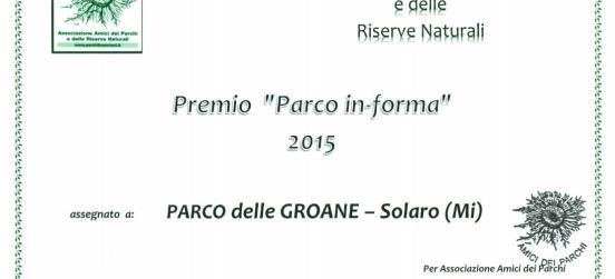 """Premio """"Parco in-forma"""" 2015, ci siamo anche noi"""