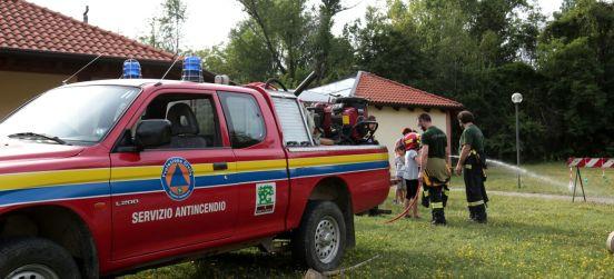 La dimostrazione antincendio di domenica 24