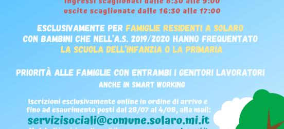 Il campus in collaborazione col Comune di Solaro