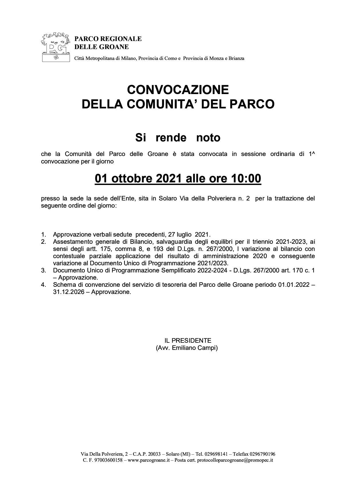 avviso_convocaz_comunità_01_10_2021